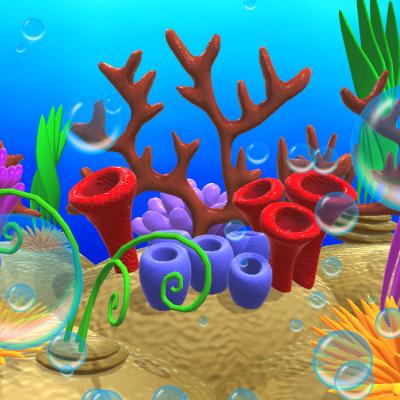 Ocean Floor 3d props