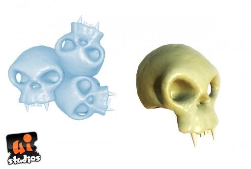 3D Scull Free Model