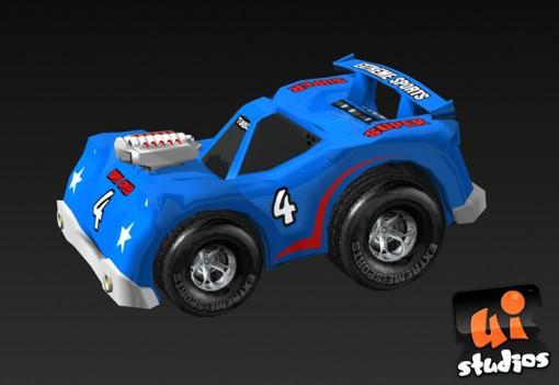 Cartoon Car Free Game Model Unity 3D