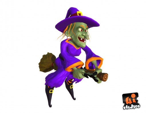 Cartoon Witch - 3D Toon Model
