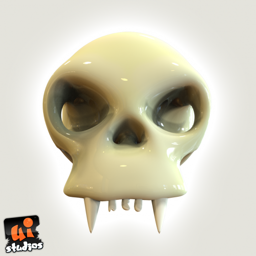 Creature Scull Low Poly Free Unity 3D Game Model