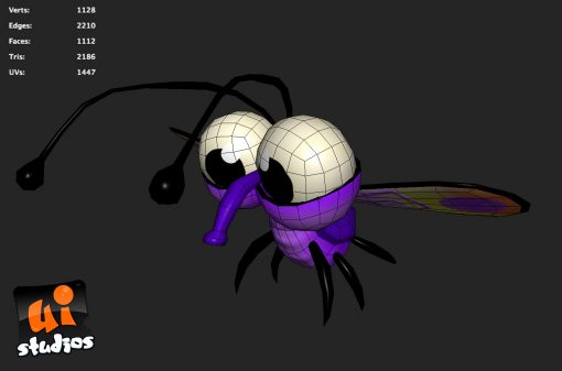 Cartoon 3D Fly - Game Model