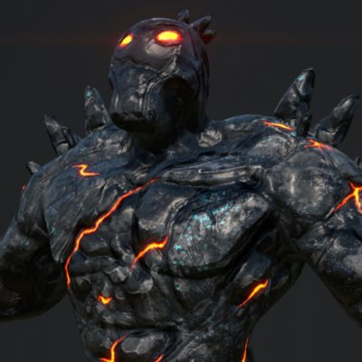 Lava Man 3D Game Model