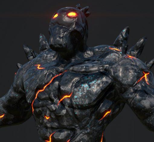 Lava Man 3D Game Model