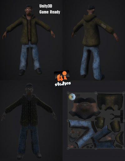 3D Character Bum